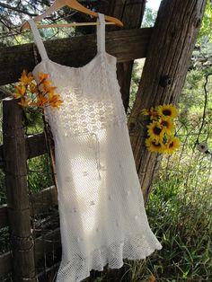 Vintage antique Wedding gown bohemian OOAK by SummersBreeze