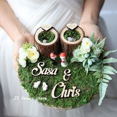 JSfavors Store - Amazing prodcuts with exclusive discounts on AliExpress Diy Wedding Ring, Ring Holder Wedding, Ring Pillow Wedding, Wedding Gifts, Rustic Wedding, Engagement Decorations, Indian Wedding Decorations, Wedding Centerpieces, Engagement Ring Platter