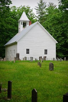 "Cades Cove :  The Primitive Baptist Church, constructed in 1887. The church was organized as the Cades Cove Baptist Church in 1827, and renamed ""Primitive Baptist"" after the Anti-missions Split in 1841. T"