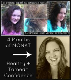 Frizzy unmanageable hair- treated with balance line