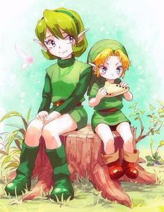Saria and Young link baby jeje LOL