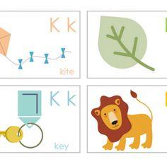 Cute Alphabet Flashcards {printable alphabet letters}
