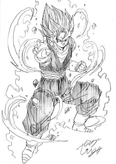 """""""I am neither Goku nor Vegeta! I am the one who will destroy you!"""" Drawn by: Young Jijii. Found by: #SonGokuKakarot"""