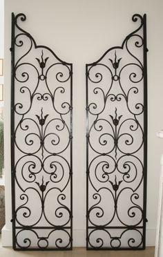 Paire de grilles décoratives d'Intérieur, fer forgé, 1940/1950, ANTINA Market, Proantic