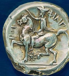 A Silver Tetradrachm representing Philip II of the ancient Greek kingdom of #Macedon (359-333 BC)   #Macedonia