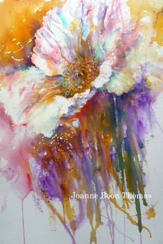 Free at Last - a bit of Brusho magic from Joanne Boon Thomas. Find out more at www.BrushoSecrets...
