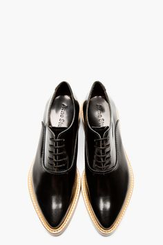 ACNE STUDIOS Black Leather Carla Oxfords