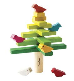 The Plan Toys Balancing Tree Game helps to develop fine motor skills. Start with the trunk and stack branches in criss-cross fashion from big to small. Once you've stacked straight to the top, try setting the six colourful birds carefully onto the branche Preschool Toys, Montessori Toys, Montessori Toddler, Toddler Toys, Baby Toys, Plan Toys, Stacking Toys, Natural Toys, Non Toxic Paint