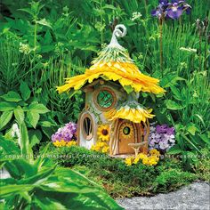 Fairy Houses 2017 Wall Calendar reveals a magical world of handcrafted castles and cottages, fanciful fairy retreats and sanctuaries, and habitable hobbit hideaways by Sally J. Click through to see the most recent edition! Clay Fairy House, Fairy Garden Houses, Gnome Garden, Fairy Gardening, Magic Garden, Polymer Clay Fairy, Clay Fairies, Fairy Furniture, Fairy Doors