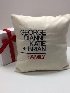 Family Math Pillow