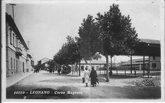 Legnano, Corso Magenta, una delle vie più importanti della città di Legnano. anno 1930. #Legnano #Città #Corso #Street