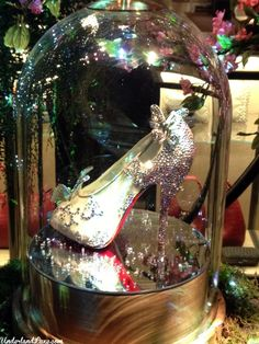 Disney Princess Christmas at Harrods - Christian Louboutin Cinderella slipper