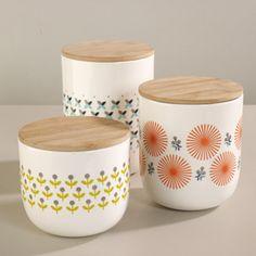 Pot hermétique en porcelaine avec couvercle bois Mr & Mrs Clynk