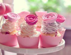 Spiral flower cupcakes - Boheme delices francaises