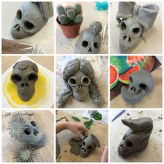 El Dia de Los Muertos - Calaveras de Arcilla Fantasticas! The Day of the Dead - Fantastic clay skulls!