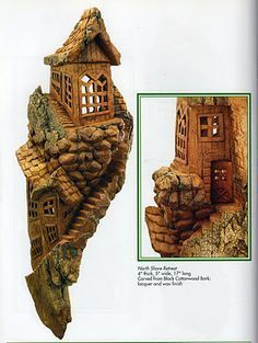 Image result for cottonwood bark carvings of buildings