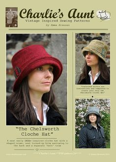 New: Sewing pattern to make the Chelsworth Cloche Hat  PDF