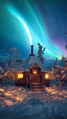 Amazing Places On Earth, Beautiful Places To Travel, Cool Places To Visit, Winter Cabin, Cozy Cabin, Cabin Tent, Winter Wonderland, Northern Lights Norway, Getaway Cabins