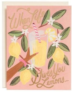 cute when life gives you lemons...greeting card