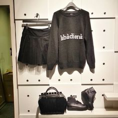 Say hello in lithuanian. This stylish #ootd is available in-store. #style #stylish #trend #trendy #fashion #fashionblogger #blogger #chicagofashion #chicagoblogger #unique #skirt #sweatshirt #original #fallfashion #followforfollow #follow4follow #likeforlike #like4like #fashionista #blog #chicagostyle #new #newin