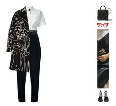 """""""#627"""" by ginadav ❤ liked on Polyvore featuring MSGM, Acne Studios, Y/Project, STELLA McCARTNEY, Proenza Schouler, Spektre, Building Block, Rocio and Gucci"""