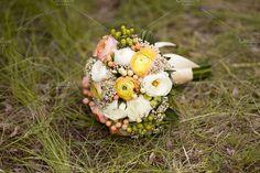 Wedding colorful bunch of ranunculus. Beauty & Fashion Photos