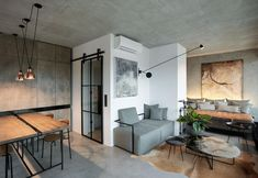 Restyling in stile industriale per un loft a Praga