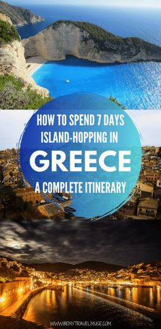 Spend 7 Days Island-Hopping in Greece - Greece is the perfect combination of affordable, beautiful, and delicious. When it comes to sailing around the Mediterranean, Greece is what dreams are made of! Here's a complete guide and itinerat Europe Travel Tips, Places To Travel, Travel Destinations, Greece Destinations, Travel Guides, European Travel, Usa Travel, Budget Travel, Greece Itinerary