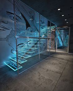 Nightclub design - Apartment dj`a on Behance Gym Interior, Futuristic Interior, Interior And Exterior, Bar Interior Design, Retail Interior, Futuristic Design, Nightclub Design, Staircase Design, Retail Design