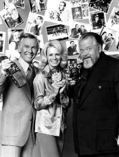 Johnny Carson, Angie Dickenson & Orson Welles