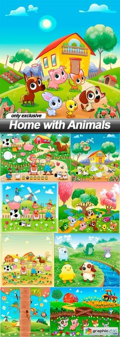 Home with Animals - 9 EPS