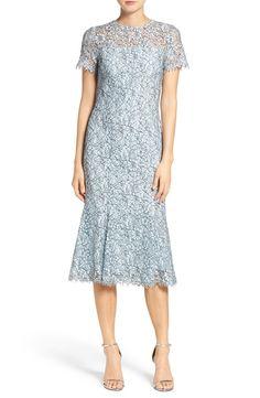 Main Image - Shoshanna Park Lace Midi Dress