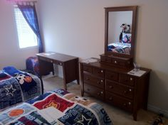 Dresser with Mirror & Desk Assembly