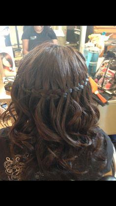 Waterfall braid:)