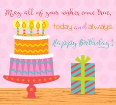 Send your #friend a #birthday #ecard decorated with warm wishes. #HappyBirthday #cake #gift #candles #card #greetings. www.123greetings.com