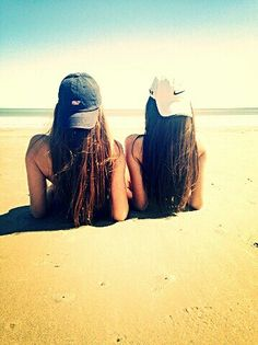 Best friends at the beach in the sand cute picture