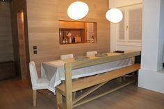 Appartamento a Foppolo - sala da pranzo - tavolo con panca e sedie