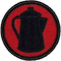 """Retro Red and Black Coffee Pot Patrol Patch - 2"""" Round Pa... https://www.amazon.com/dp/B019NPQCWW/ref=cm_sw_r_pi_dp_F7Tyxb3WC0D1W"""