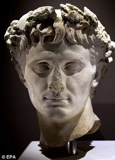 A stone sculpture of Roman Emperor Agustus,  Herod was appointed as monarch of Judea by the Romans