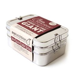 Rugged, stainless steel lunchbox, Three-in-One Giant