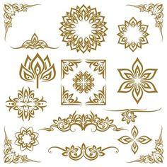Free Vector | Luxury ornamental mandala background in gold color Thailand Tattoo, Pattern Design Drawing, Pattern Art, Folk Art Flowers, Flower Art, Cambodian Art, Art Thai, Thai Pattern, Emblem