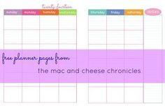 Free Printable Monthly Planner Pages (full and half size available)