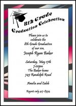 Find Largest Selection Of Grade Middle School Junior High Graduation Party Invitation With Caps Online Save Our 10 Free