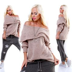 Beige Wool Cowl Neck Jumper Long Sleeve European Fashion, Unique Fashion, Timeless Fashion, Fashion Beauty, Womens Fashion, Pullover, Cable Knit Sweaters, Knitwear, Jumper