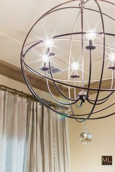 Chandelier for a Formal Living Room | Designed by Interior Designer ML Interiors Group based in Dallas TX