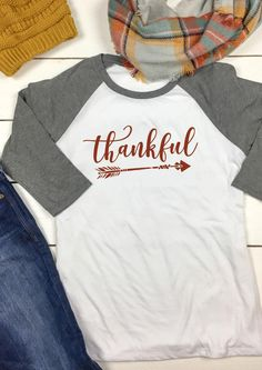 THANKFUL Arrow Printed O-Neck T-Shirt - Fairyseason