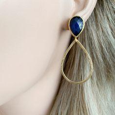 grijze-cats-eye-en-gold-druppels-oorbellen handgemaakte sieraden Earrings, Jewelry, Fashion, Jewellery Making, Moda, Stud Earrings, Ear Rings, Jewelery, Jewlery