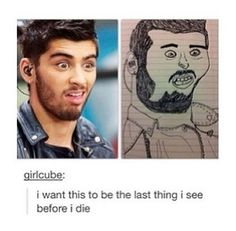 Zayn is the one thing this fandom can't draw properly :)