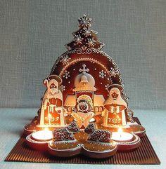 Betlém větší zepředu I have to try this! Christmas Gingerbread, Christmas Nativity, A Christmas Story, Christmas Treats, Christmas Baking, Gingerbread Cookies, Christmas Fun, Christmas Cookies, Holiday