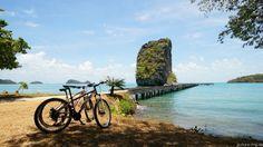 Ao Talo Wao Pier with bikes at Koh Tarutao